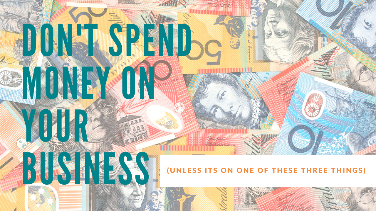 how to spend money in your business